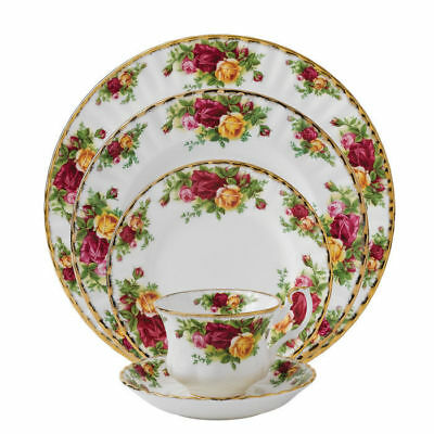 Royal Albert Old Country  Roses Five Piece  Place  Settings England