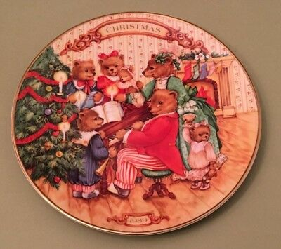 """Avon """"Together for Christmas"""" Porcelain Collector Plate 1989"""