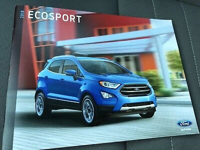 2018 FORD ECOSPORT 30-page Original Sales Brochure