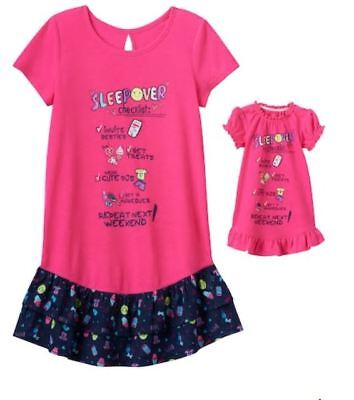 Girl 4-14 and Doll Matching Sleepover Nightgown Clothes American Girl  Dollie Me 5066fe675