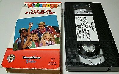Kidsongs A Day At Old MacDonald's Farm VHS OOP