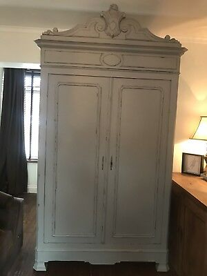 Antique Shabby Chic French Armoire/wardrobe