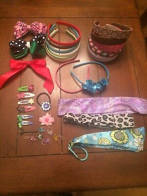 Large lot of hair accesorries, Gymboree, others, headbands, barrettes, bows