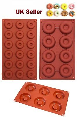 6,8 Holes Silicone Donut Mold 18 Holes Non Stick Doughnut Mould Baking Oven Tray