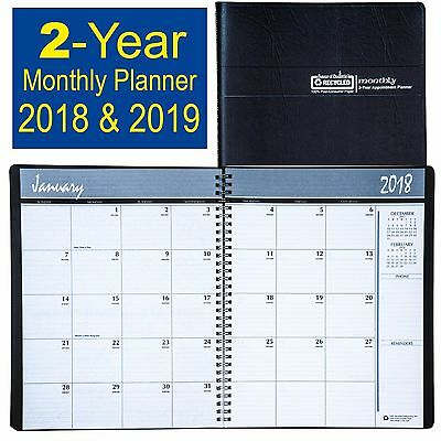 2018 & 2019 HOD262002 House of Doolittle 2-Year Monthly Appt Planner 8-1/2 x 11""