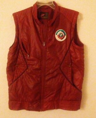vintage BMW M puffy vest 80's with hid-away hood