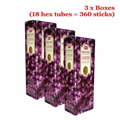 Hem Incense Sticks - PRECIOUS LAVENDER - BULK 3 x Boxes (360 Sticks)