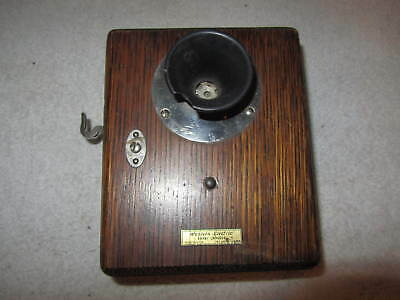 Antique 1900's Western Electric 327S Wall Inter Phone,Intercom, 294W Transmitter