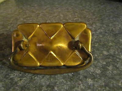 """Beautiful Brass Drawer Pull Only One 4 1/2"""" By 2 1/2"""" The Holes Would Be 3"""" Ct"""