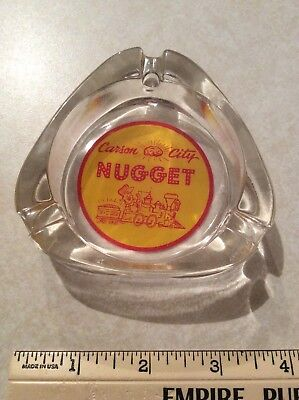 RARE CARSON CITY NUGGET CASINO TRIANGLE CARSON CITY NV glass ASHTRAY