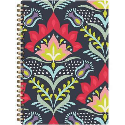 """Botanical Composition Spiral-Bound Notebook 7""""X9.5"""" Colorful Flow 061152606823"""