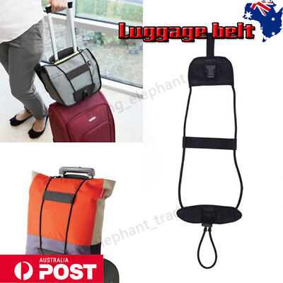 Add A Bag Strap Travel Luggage Suitcase Adjustable Tape Belt Carry On Bungee AU