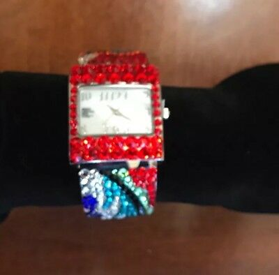 Womens Watch From Wynn Encore Las Begas Multicolored Crystals Stainless Steel
