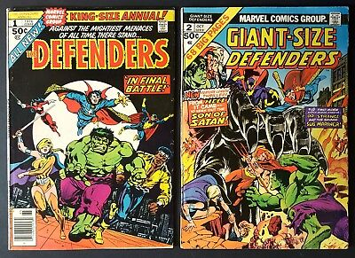 Defenders King-Sized Annual Lot Marvel #1, 2 The Hulk, Luke Cage, Dr. Strange