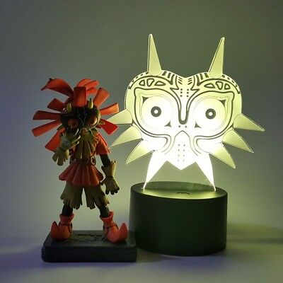 The Legend of Zelda Skull Kid Majoras Mask Action Figure 3D Visual Illusion LED