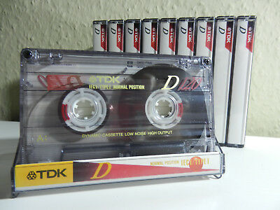 🎼 10 x TDK D120 D 120 - Kassetten Cassettes Cassette кассеты - with Sticker 👍