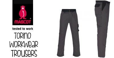 Mascot Workwear Trousers Torino Grey New Free Delivery