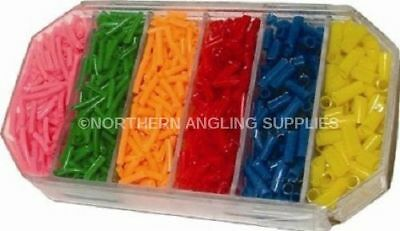Cut Silicone Float Rings+Box River & Lake Tackle Pole Caps Line Stops Rig Tube