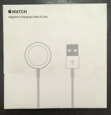 Genuine Apple Watch Magnetic Charging Cable 0.3m (1 foot) -MLLA2AM/A, Original