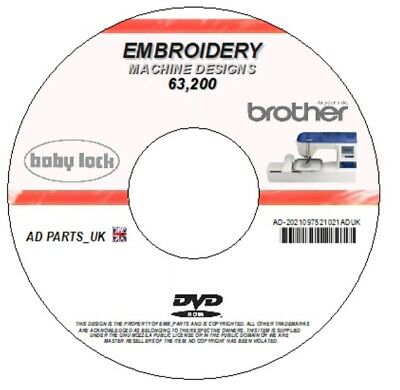 52,100+ 2.57Gb Embroidery Designs Brother Janome Babylock Singer Bernina Cd Dvd