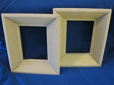 Set Of 2 Mid Century Solid Wood Picture Frames.