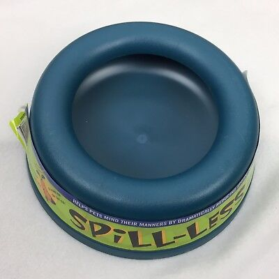"""8"""" Pet Spill-Less Smart Bowl - NEW - No More Messes! Turquoise"""