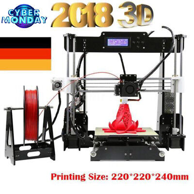 2018 Letzte Version A8 3D Printer Reprap Prusa i3 DIY kit 3D Drucker