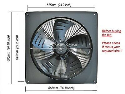 Industrial Extractor Fan 500mm, 20 inch, 240V, 1300 rpm