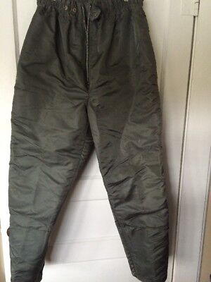 VTG Ensolite Insulated Olive Green Pants Men's L