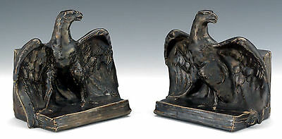 """Pair of Rookwood Figural Bookends """"Eagle"""" - Designed by William P. McDonald"""
