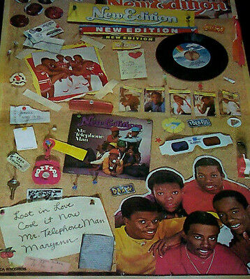 New Edition With Bobby Brown 80's Promo Poster (Fast Shipping)