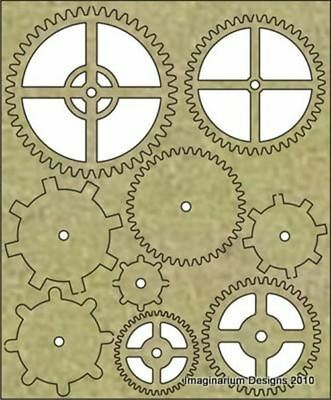 Imaginarium Designs - 9 Chipboard Cogs Small (IDT0004)