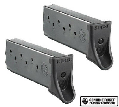 Ruger LC9/LC9s/EC9s Magazine 9mm 7 Round Factory Mag-Value 2 Pack-90642