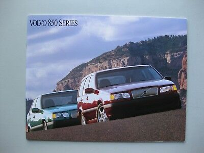 Volvo 850 prestige brochure Prospekt English language 1993 32 pages