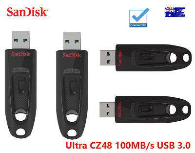 SanDisk 16GB 32GB 64GB 128GB 256GB Ultra CZ48 100MB/s USB 3.0 Flash Drive Stick
