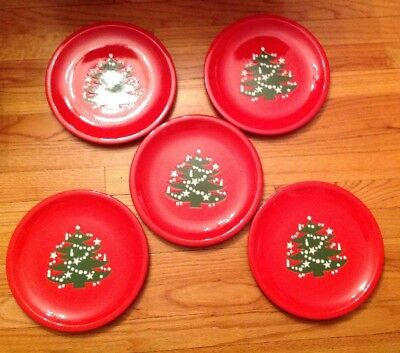 Set of 5~ Waechtersbach \ Christmas Tree\  Dinner Plates W Germany ...  sc 1 st  PicClick : waechtersbach christmas tree dinner plates - pezcame.com