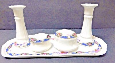 Antique Victorian European 7 piece Porcelain Dresser Set - 19th Century