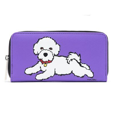 Bichon Frise Zipper Wallet by  MARC TETRO - with presentation box - lovely gift