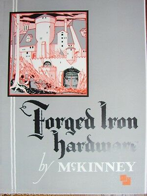 1935 McKINNEY Forged IRON HARDWARE Door Hinge Knocker Knob Mailbox VTG Catalog