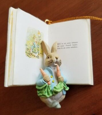 Beatrix Potter Peter Rabbit book ornament