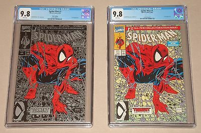 Spider-man Torment #1 Silver & #1 Green  Combo, CGC 9.8, **Mint** FREE SHIPPING!