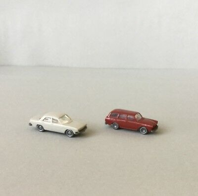 N Scale Wiking Vehicles x2, VW Station Wagon, Audi 100 for layouts