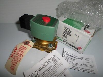"*NEW IN BOX* Asco SC8222G094 Solenoid Valve 1/2"" 120Vac Red Hat SC8222B94"