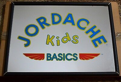 VINTAGE 70's 80's JORDACHE KIDS BASICS STORE DISPLAY MIRROR RARE SIGN With Box