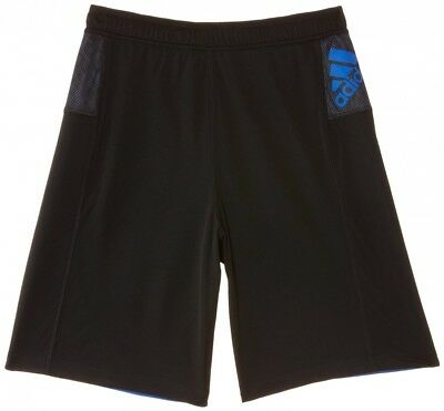 (Small, Black/Blue Beauty F10) - adidas Boy's Clima Young Short