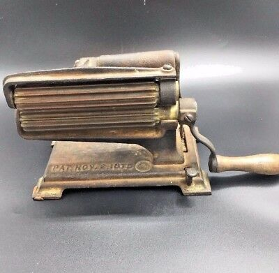 Antique American Machine Co Eagle Fluted Cast Iron and Brass fluter iron Crimper