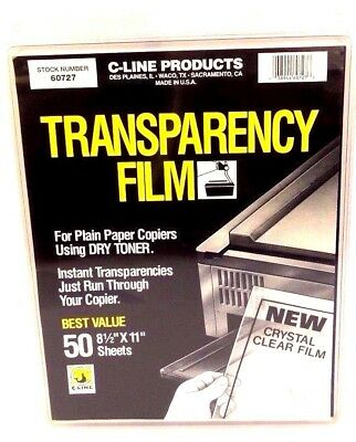 C-Line Transparency Film For Use W/ Dry Toner Clear, 8.5 x 11 Inches, 50 Sheets