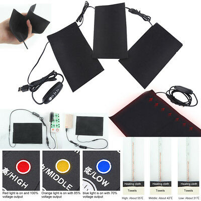 Electric Heating Vest Heated Pad With 5V 2A USB Charger Clothing Accessories OB