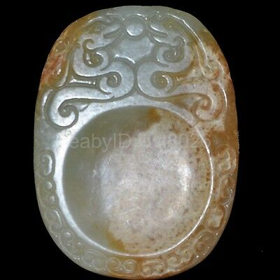 Old Chinese antique Jade hand-carved Beast Statue Pendants Amulet