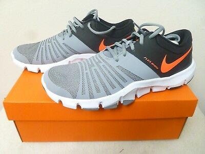 (New!) Nike Men's Flex Show TR 5 Cross Trainer Stealth/Hyper Orange - Men's 10.5